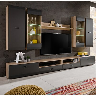 Spivey Entertainment Center Color: Sand/Remo Grafite