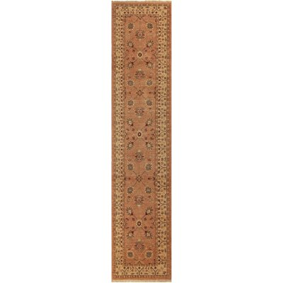 One-of-a-Kind Huseby Hand-Knotted Wool Rose/Ivory Area Rug
