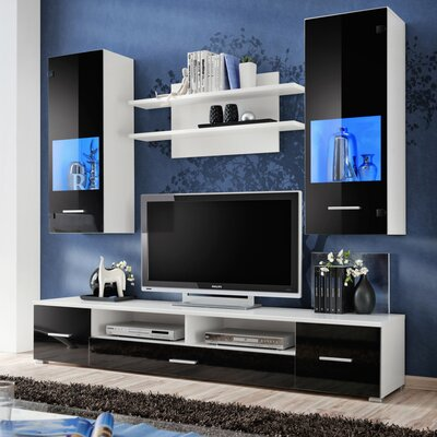 Spooner Entertainment Center Color: Black