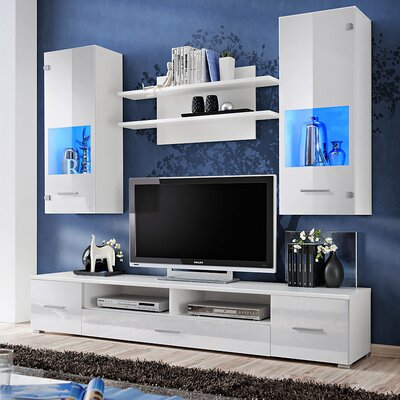 Spooner Entertainment Center Color: White