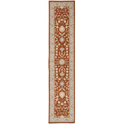 One-of-a-Kind Huseby Hand-Knotted Wool Rust/Blue Area Rug