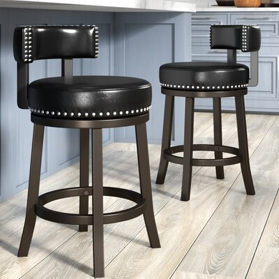 Backer 24 Bar Stool Finish: Black