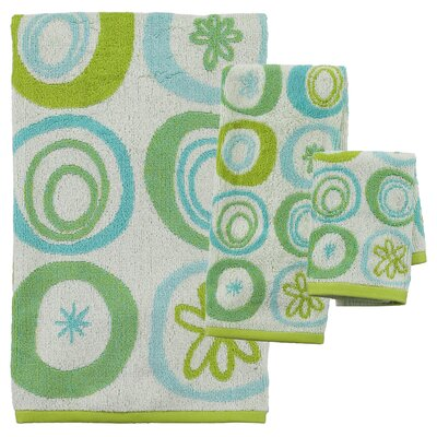 Hepner 3 Piece Jacquard Towel Set