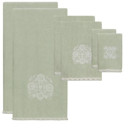 Hutton Jacquard 6 Piece Towel Set