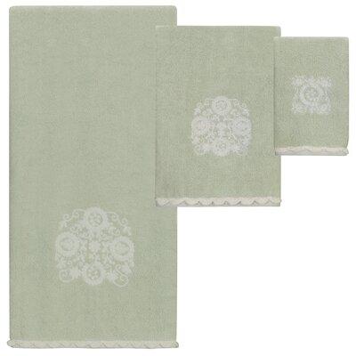 Hutton Jacquard 3 Piece Towel Set