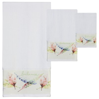 Cheverny Print 3 Piece Towel Set