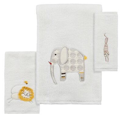 Animal Crackers 3 Piece Towel Set
