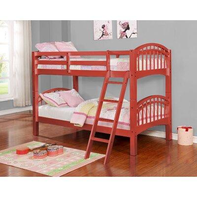 Mireya Bunk Slat Bed Size: Twin, Bed Frame Color: Rose Gold