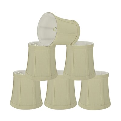 Chandelier Clip-On 5 Fabric Bell Lamp Shade Color: Beige
