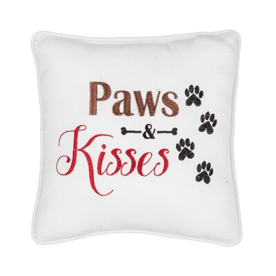 Fenske Mini Paws and Kisses Cotton Throw Pillow