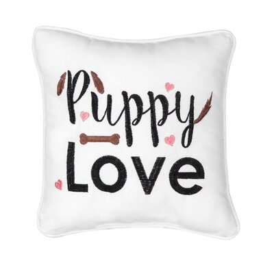 Fenske Mini Puppy Love Cotton Throw Pillow