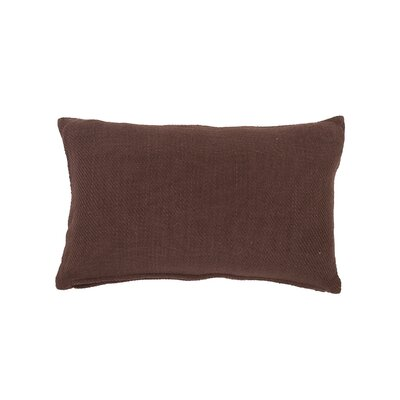 Vensey Cocoa Cotton Lumbar Pillow Color: Cocoa
