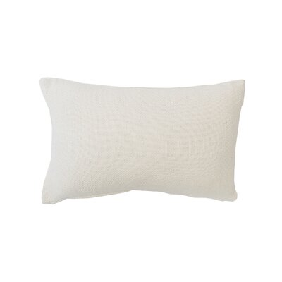 Vensey Cocoa Cotton Lumbar Pillow Color: Ivory
