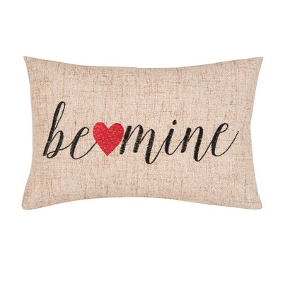 Be Mine Linen Throw Pillow