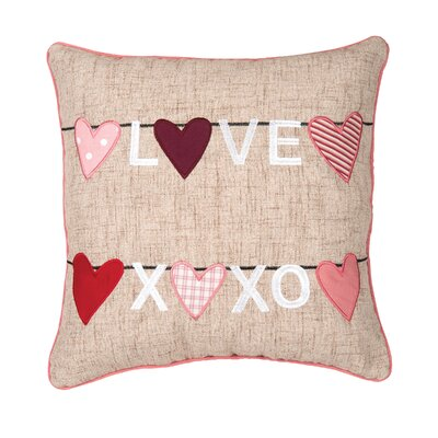 Borrero Love Clothesline Cotton Throw Pillow