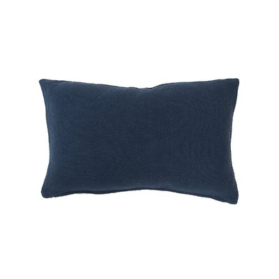 Vensey Cotton Lumbar Pillow Color: Navy