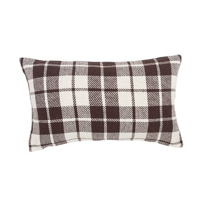 Vensey Plaid Cotton Lumbar Pillow Color: Cocoa
