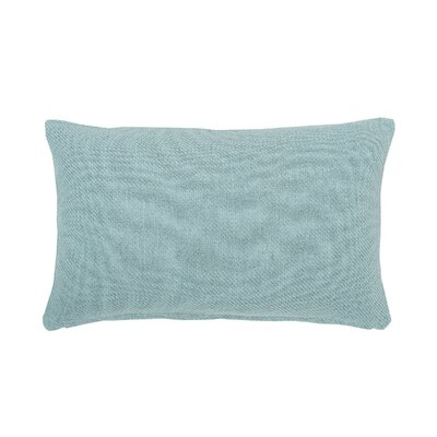 Vensey Cotton Lumbar Pillow Color: Sea Glass