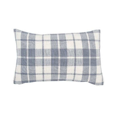Vensey Plaid Cotton Lumbar Pillow Color: Cement