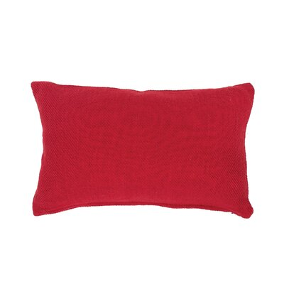 Vensey Cocoa Cotton Lumbar Pillow Color: Red