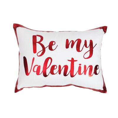 Be My Valentine Cotton Lumbar Pillow
