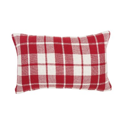Vensey Plaid Cocoa Cotton Lumbar Pillow Color: Red