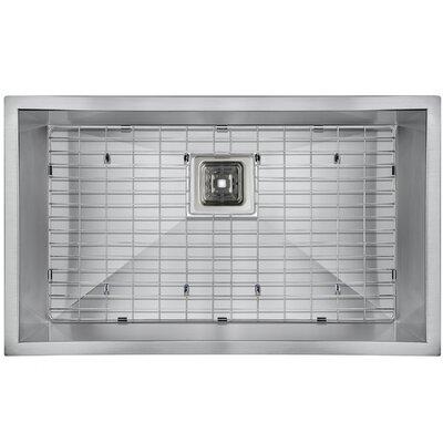 Handmade 30 x 18 Undermount Kitchen Sink with Drain Strainer and Dish Grid