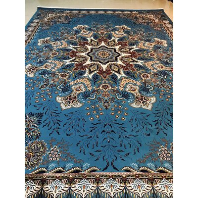 Polito Persian Wool Blue Area Rug Rug Size: Rectangle 65 x 10