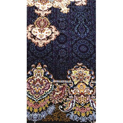 Pinon Persian Wool Navy Blue Area Rug
