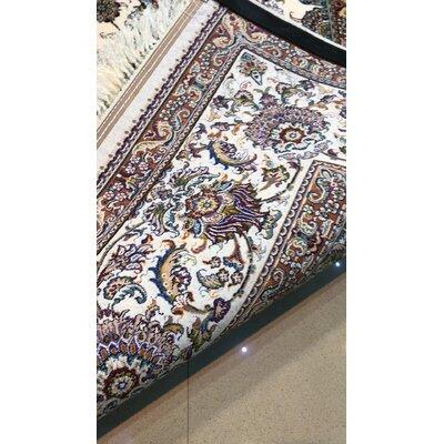 Polston Persian Wool Cream Area Rug Rug Size: Rectangle 65 x 10