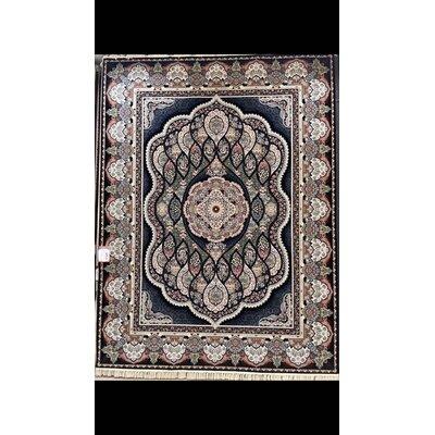 Pinson Persian Wool Black Area Rug