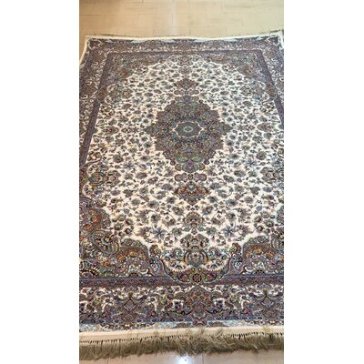 Ponte Persian Wool Cream Area Rug Rug Size: Rectangle 82 x 115