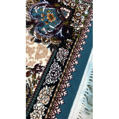 Ponton Persian Wool Blue Area Rug Rug Size: Rectangle 65 x 10