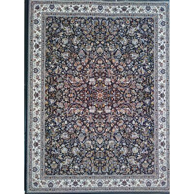 Poppe Persian Wool Black Area Rug Rug Size: Rectangle 65 x 10