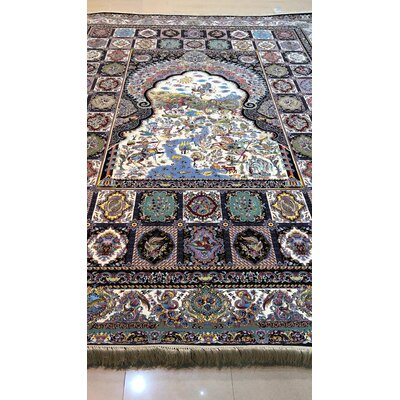Port Chester Persian Wool Black Area Rug Rug Size: Rectangle 8'2