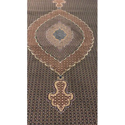 Port Lincoln Persian Wool Black Area Rug Rug Size: Rectangle 6'5