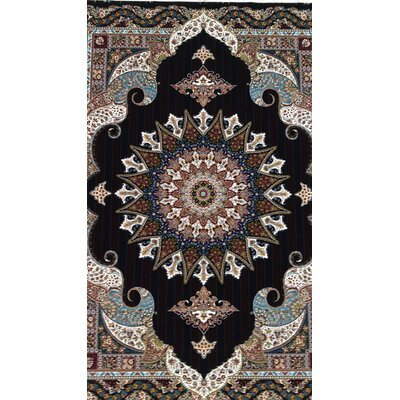 Pizano Persian Wool Black Area Rug