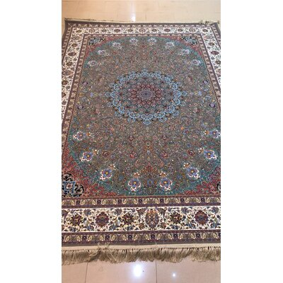 Portillo Persian Wool Gray Area Rug Rug Size: Rectangle 10 x 14