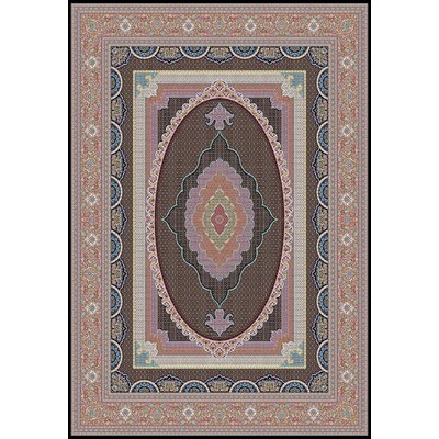 Port Pirie Persian Wool Black Area Rug Rug Size: Rectangle 5' x 8'2