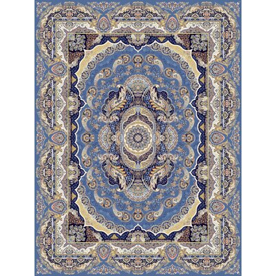 Plunkett Persian Wool Blue Area Rug