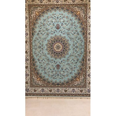 Postma Persian Wool Blue Area Rug Rug Size: Rectangle 5 x 82
