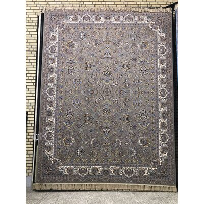Poteat Persian Wool Gray Area Rug Rug Size: Rectangle 82 x 115