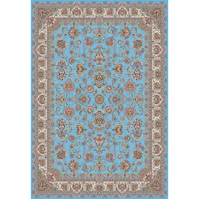 Poston Persian Wool Blue Area Rug Rug Size: Rectangle 82 x 115