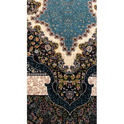 Pohlman Persian Wool Blue Area Rug