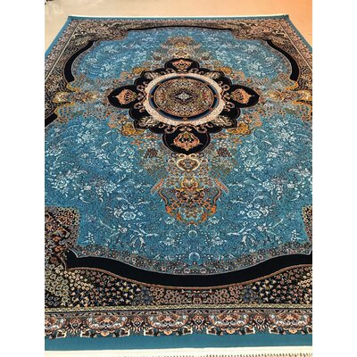 Pottorff Persian Wool Blue Area Rug Rug Size: Rectangle 65 x 10