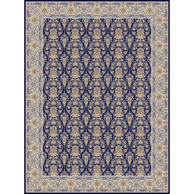 Polak Persian Wool Navy Blue Area Rug