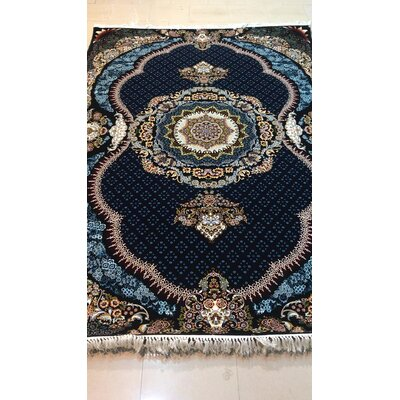 Powley Persian Wool Black Area Rug Rug Size: Rectangle 5 x 82