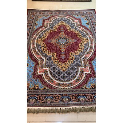 Poulsen Persian Wool Red Area Rug Rug Size: Rectangle 65 x 10