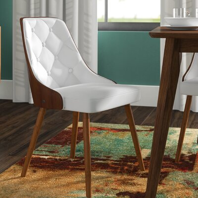 Portico Dining Chair Upholstery: White