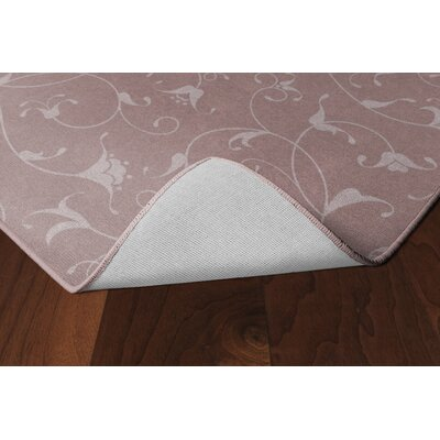 Dessert Floral Dusty Rose Area Rug Rug Size: Rectangle 76 x 10